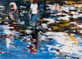 Still searching, 180x250 cm, 2013, Öl auf Leinwand