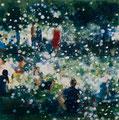 Sommer im Park 02,  60x60 cm, 2016, Öl auf Leinwand