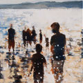 Juntos en la playa, 60x60 cm, 2017, Öl auf Leinwand