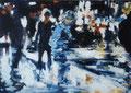 Ich muss schnell noch...,120x170 cm, 2011, Öl auf Leinwand