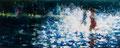 Splash, 100x250 cm, 2014, Öl auf Leinwand