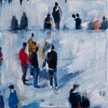 Neben der Schneepiste 02, 45x45 cm, 2013, Öl auf Leinwand