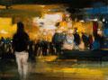 I hope he´s there_30x40 cm, 2015, Öl auf Leinwand