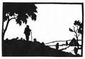 """Schafer"" Blatt 6 Paul Friedrichsen Orig. Handschnitt 1922"