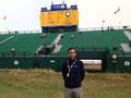 Vor dem Leaderboard der 143. Open Championship, die Rory McIlroy gewann.