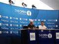 Presskonferenz mit Martin Kaymer bei der Open Championship 2014 in Hoylake, England.