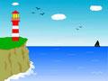 Sommer Leuchtturm + See