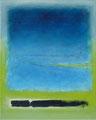 Dunkelblauer Strich   (40x50 cm)