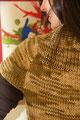chompa marrón matizada manga corta