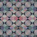 "Graph VII. (detail) Textile specific inkjet print on silk. 48"" x 48"" x 2"". 2014"