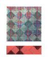 "Graph VI. Acrylic, inkjet, Mulberry paper, cardboard. 11"" x 14"". 2014"