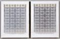 """""""Nuclear Forms #4"""". Transparencies, Xerox, cardboard, gesso, Plexiglass, tape . 14"""" x 22"""". 2010"""