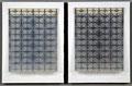 """""""Nuclear Forms #5"""". Transparencies, Xerox, cardboard, gesso, Plexiglass, tape . 14"""" x 22"""". 2010"""