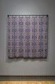"Graph VII. Textile specific inkjet print on silk. 48"" x 48"" x 2"". 2014"