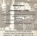 Adatontrum, Elektronische Musik & Posaunenquartett & Schlagzeug