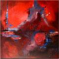 Rote handgemalte Wandbilder, Leinwandbilder, Keilrahmenbilder und Acrylbilder in rot - rotes Bild kaufen