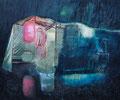 秋雨  60.6×72.7㎝ 油彩・キャンバス