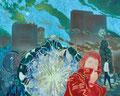 回想と突発の我々 130.0×162.0㎝油彩・キャンバス
