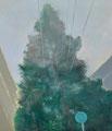 想定と想定内 53×45.5㎝ 油絵の具・木製パネルに紙