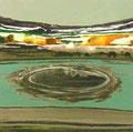 単なる崩壊   48.7×48.7㎝ アクリル絵の具、墨、木炭・キャンバス