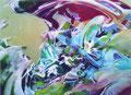 新たな波 72.8×103.0㎝ アクリル絵の具、油絵の具・木製パネル
