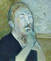 何処へいった男  72.7×60.6㎝ 油彩・キャンバス