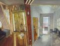古参中立柱 91×116.7㎝ 油絵の具・木製パネルに紙
