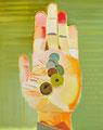 廻転の器 70×56㎝ 油絵の具・木製パネルに紙