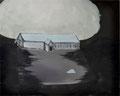 知らない嘘 86.0×107.9cm アクリル絵の具、木炭・キャンバス