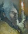 刹那の考え  60.6×50.0㎝ 油彩・キャンバス