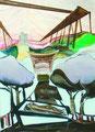 噂の世界   145.6×103.0㎝ アクリル絵の具・パネルに綿布