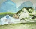 新山古山 25×30㎝ 油絵の具・木製パネルにキャンバス