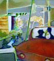 後ろの時間  53.0×45.5㎝ 油絵の具・キャンバス
