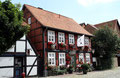 Das schöne Städtchen Hitzacker im Wendland; hier eine schöne Fachwerkfassade