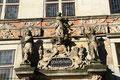Ornamente am Gewerbehaus:Justitia, Minerva und Herakles ; heute Handwerkskammer