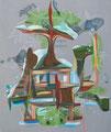 Kiribati  [AOC-3913-18]  | 2018 | Acrylic and Oil on canvas | 24 x 20 in (61 x 51 cm)