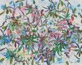 """Romantic Retreat""  2012   Gouache, ink on paper   44 x 55"" (112  x 140 cm)"