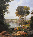 """ Landscape with the Finding of Moses"" after Claude Lorraine (1602-82)"