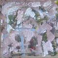 """50x50 """"Rêverie"""" acrylique-encre sur toile  2012"""