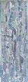 """110x40  """"Cascades""""  acrylique-encre sur toile 2012 vendu"""