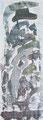 """110x40 """"Brittania""""  acrylique-encre sur toile 2012"""