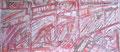 """160x70 """"Automne"""" acrylique-encre sur toile 2013"""