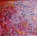 """160x160 """"Nos fragments""""  acrylique-encre sur toile 2012"""