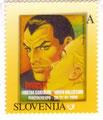 "Francobollo poste Slovenia ""Diabolik"" Giallo"