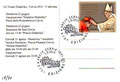 """Cartolina un'estate Diabolika 2014 """"V edizione"""" retro con annullo Cervia 1 Giugno 2014"""