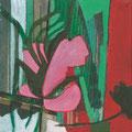 Aufblühen / Stefanie Anrig / Mischtechnik auf Leinwand / 20 cm x 20 cm