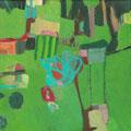 So Grün / Stefanie Anrig / Mischtechnik auf Leinwand / 20 cm x 20 cm