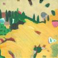 Gedanken - Flug / Stefanie Anrig / Mischtechnik auf Leinwand / 20 cm x 20 cm