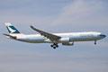 Auch die Airbusse A-330 von Cathay findet man in Europa nicht