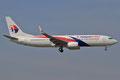 Boeing 737-800 in der modernisierten Bemalung der Malaysian Airlines.
